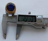 Кольцо с Сапфиром 12 карат и бриллиантами 41 г серебра 925 пробы photo 7