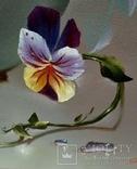 """""""Цветочное настроение"""",Авторская, ручная работа,итальянский холст 50*60см,масло photo 3"""