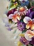 """""""Цветочное настроение"""",Авторская, ручная работа,итальянский холст 50*60см,масло photo 5"""