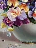 """""""Цветочное настроение"""",Авторская, ручная работа,итальянский холст 50*60см,масло photo 9"""