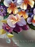 """""""Цветочное настроение"""",Авторская, ручная работа,итальянский холст 50*60см,масло photo 10"""