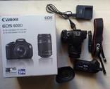 Фотоаппарат Саnon EOS 600 D + аксессуары. photo 1
