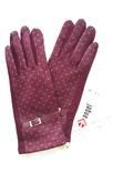 Перчатки утепленные бордо (марсала)