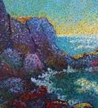 Морские скалы. Холст. Масло 50х70 photo 2