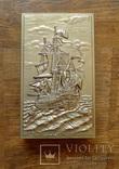 """Большой спичечный коробок в металлическом футляре """"Парусный корабль"""" photo 1"""