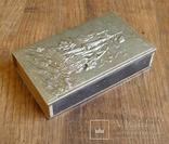 """Большой спичечный коробок в металлическом футляре """"Парусный корабль"""" photo 2"""
