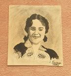 Портрет женщины 1939 г. Рисунок. photo 1
