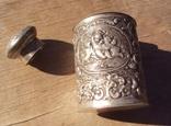 Серебряная чайница с путти, Германия.