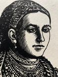 """Касиян Василий Ильич, графика """"Женский портрет"""", 1925г. photo 9"""
