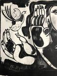 """Генриетта Левицкая, графика """"Женщина с птичкой"""" photo 9"""