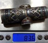 Серебряная копилка для монет. 84 проба, эмали. 83,6 грамм. photo 8