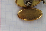 Часы Swiss Brosher серебро позолота кулон, фото №4