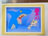 Открытка Великобритания (акула), фото №2