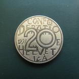 20 франков 1991 год ШВЕЙЦАРИЯ серебро, фото №2