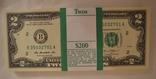 2 $ США 2013 года , 100 купюр , пресс, номера подряд