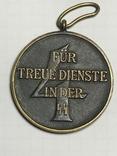 Медаль За 4 года службы в СС 1938 год