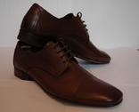 Туфли кожаные Braska, 41 размер. Коричневый цвет.