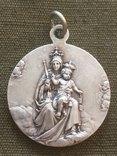 Католическая ладанка из серебра