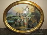 Настенные часы с картиной эксклюзивные Vor dem Stall украшение интерьера