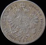 1 флорин 1879 року, Австро-Угорщина, австрійський тип, срібло