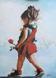 ''Аленький цветочек'' Картина 60х40см Виктор Олейник масло/холст