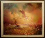 """Картина маслом на холсте """"Буря на море"""" 2007 г."""