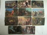 Набор старых цветных открыток Германии на церковную тему ветхий завет