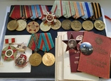 Боевой комплект: КЗ 111 002 (пятка) + медали: Вена, Будапешт и другие + ОВ 2 ст. юбилейный