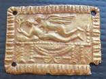 Золотая античная пластина - накладка Амур Психея, № 2