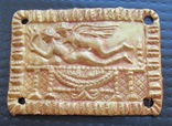Золотая античная пластина - накладка Амур Психея, № 1