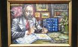 """ Коллекционер"" автор Васин Ю. А. 15 Х 20 см. Холст, масло. photo 2"