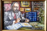 """ Коллекционер"" автор Васин Ю. А. 15 Х 20 см. Холст, масло. photo 6"