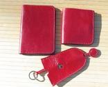 Набор из натуральной кожи ( красный )