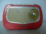 Ламповый переносной радиоприемник ВЭФ Турист ПМП-56 с подставкой-блоком выпрямителем