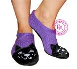 Тёплые домашние тапочки-носочки кошечка 36-39 размер