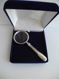 Лупа, серебро 800 пр. в подарочной коробке