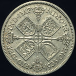 Великобритания флорин 1935 серебро