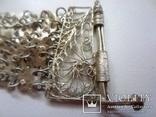 Набор винтажный (браслет серьги) филигрань, ручная работа, фото №3