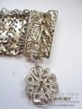 Набор винтажный (браслет серьги) филигрань, ручная работа, фото №4