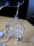 Набор винтажный (браслет серьги) филигрань, ручная работа, фото №8
