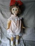 Кукла пластмасса на резинках большая СССР