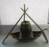 Чернильница бронзовая на морскую тематику AK