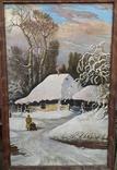 Картина Зима в селе 45×70 photo 1