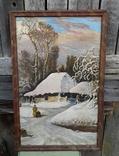 Картина Зима в селе 45×70 photo 2
