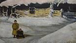 Картина Зима в селе 45×70 photo 5