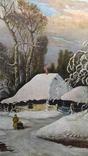 Картина Зима в селе 45×70 photo 7