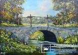 Пейзаж с мостиком маслом на холсте 35х25 photo 1