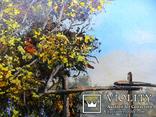 Пейзаж с мостиком маслом на холсте 35х25 photo 2