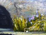 Пейзаж с мостиком маслом на холсте 35х25 photo 4