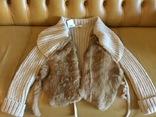 Куртка-кардиган EXTYN, натуральный мех, Италия, новый